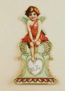 """ca. 1900 --- """"To My Valentine"""" Die Cut --- Image by © Cynthia Hart Designer/CORBIS"""